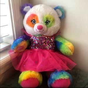 Build a Bear Colorful Panda Bear Plushie